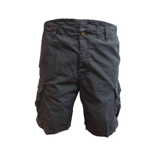 Cotton Dark Blue Mens Bermudas-jjsoftwear