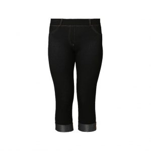 Black Womens capri - shorts-JJsoftwear