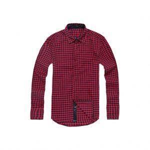 Maroon Mens Casual Shirts-jjsoftwear