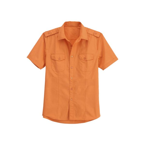 Mens Orange Casual Shirts-jjsoftwear