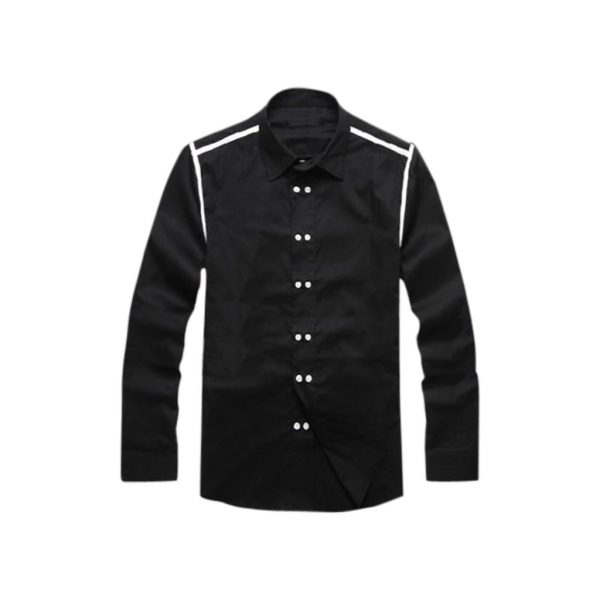 Black Full hand Mens Casual Shirt