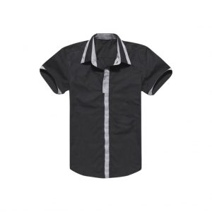 Mens Black Half Hand Casual Shirts-jjsoftwear