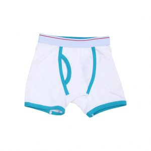White and Blue kids Boxer-JJsoftwear