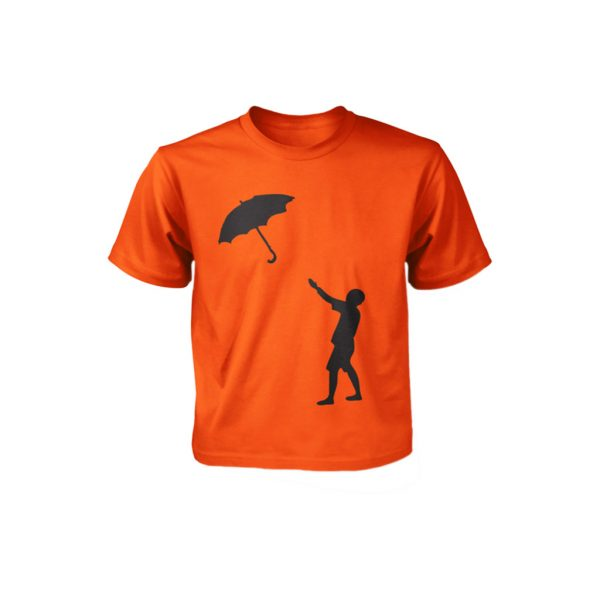 Orange kids T-shirts-JJsoftwear