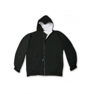 Black Men's Hooded Jacket-JJsoftwear