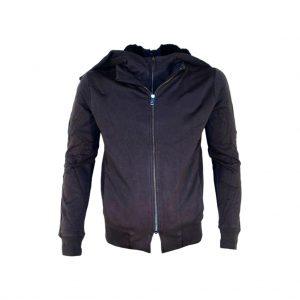 Dark Blue Mens Hooded Jacket-JJsoftwear