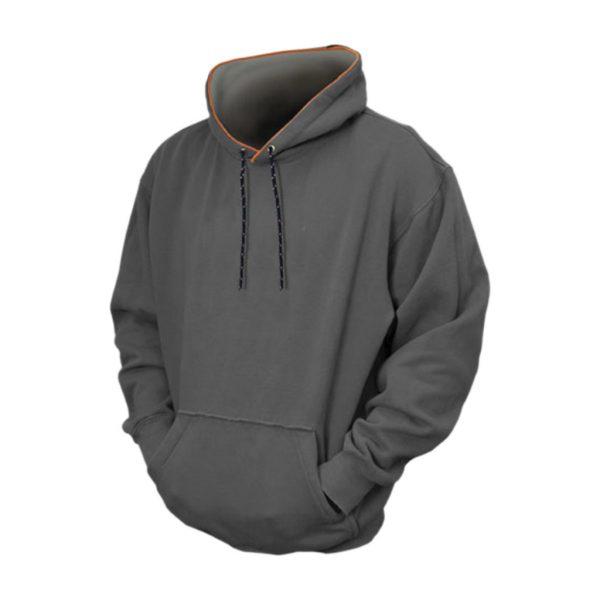 Dark Grey Mens Hooded Jacket-JJsoftwear