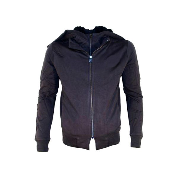 Dark Blue Mens Hooded Jacket-JJsoftwear