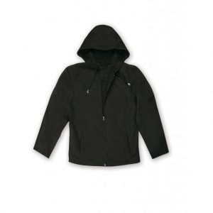 Black Men's Hooded Jacket-JJsoftwear