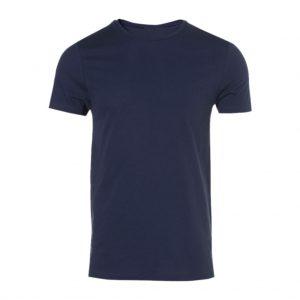 Dark Blue Men's Crew Neck T-Shirts-JJsoftwear