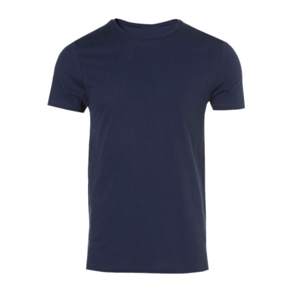 Dark Blue Men's Crew Neck T-Shirts-JJsoftwear