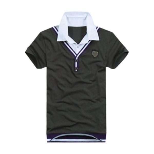 Black Collar Mens T-shirt
