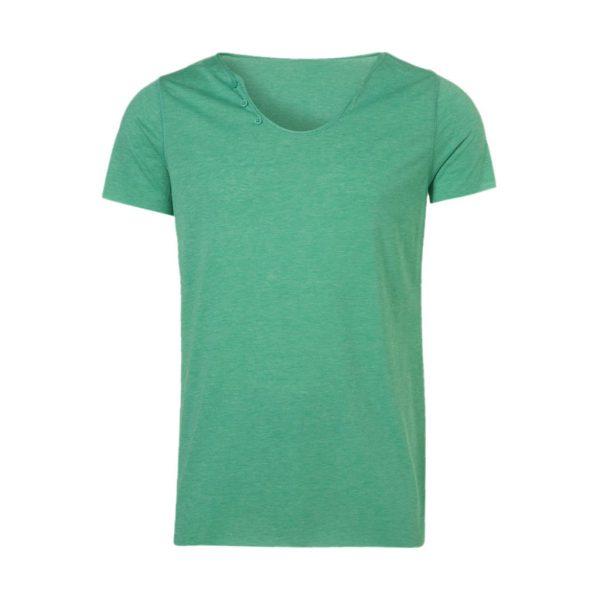 Mens Green Crew Neck T-Shirts-JJsoftwear