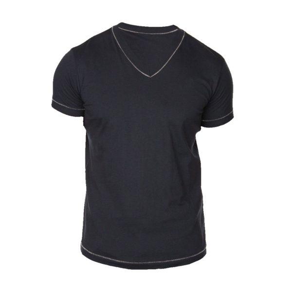Black Mens crew-neck T-Shirts-JJsoftwear