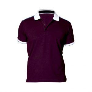 Maroon Collar Mens T-shirts-JJsoftwear