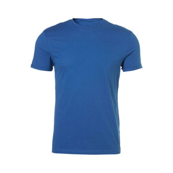 Light Blue Mens Crew Neck T-Shirts-JJsoftwear