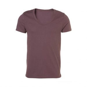 Brown Mens Crew Neck T-Shirts-JJsoftwear