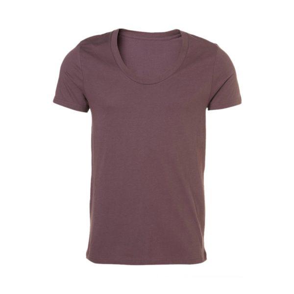 Brown Mens Crew Neck T-Shirts-JJsoftwear