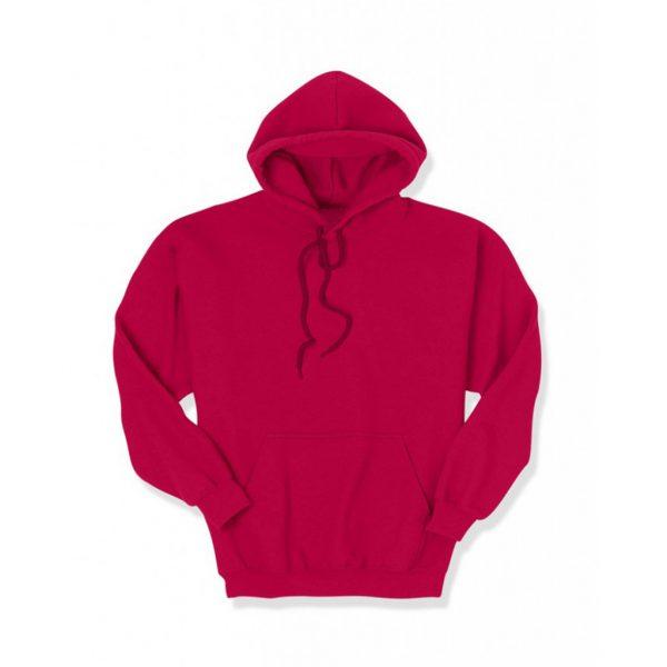Dark Red Men's Hooded Jacket-JJsoftwear