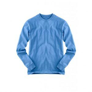 Blue Mens Long Sleeve T-Shirts-JJsoftwear