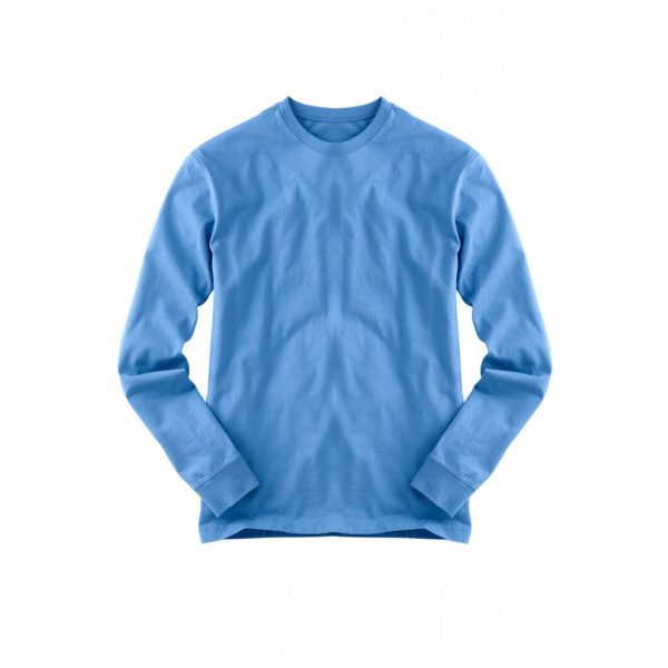 Blue Mens Long Sleeve T-Shirts-JJsoftwear