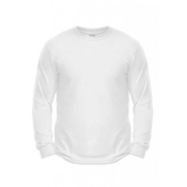 White Mens Long Sleeve T-Shirts-JJsoftwear