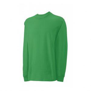 Green Mens Long Sleeve T-Shirts-JJsoftwear
