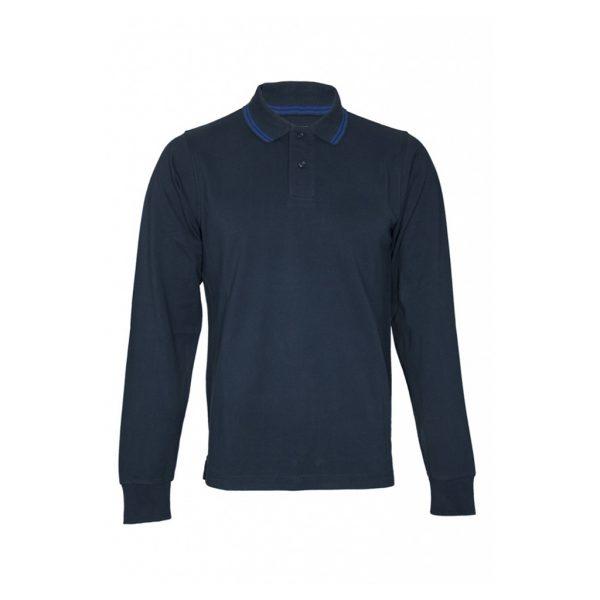Navy Mens Long Sleeve T-Shirts-JJsoftwear