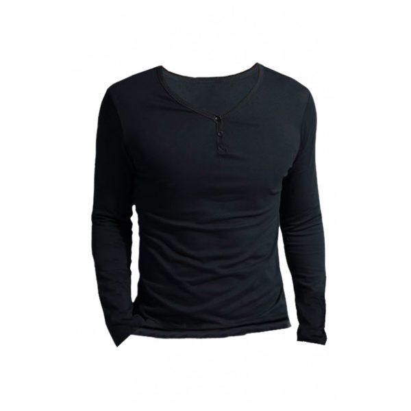 Black Mens Long Sleeve T-Shirts-JJsoftwear