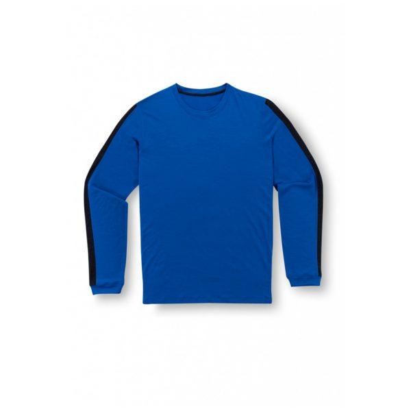 Dark Blue Mens Long Sleeve T-Shirts-JJsoftwear