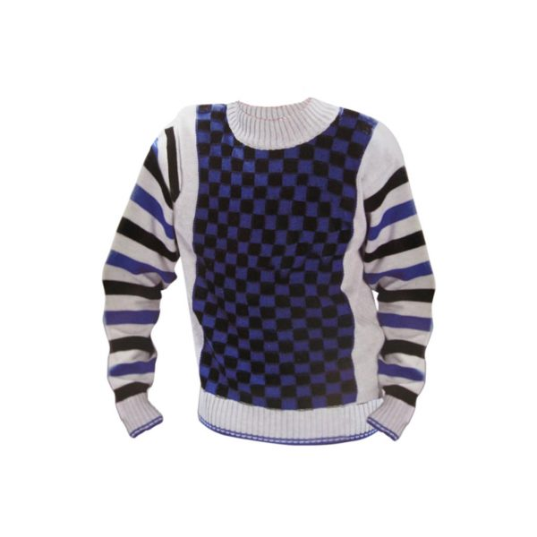 Blue and White Kids Pullovers-JJsoftwear