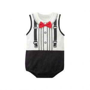 Black and White Kids Romper Wears-JJsoftwear