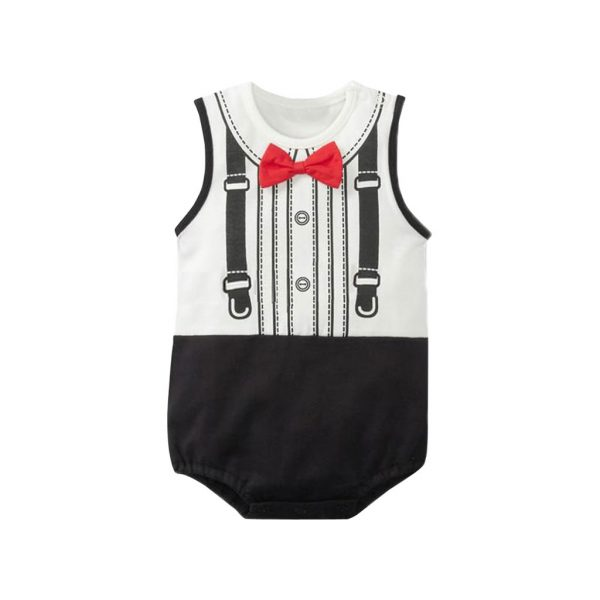 Black and White Kids Romper Wears-JJsoftwear