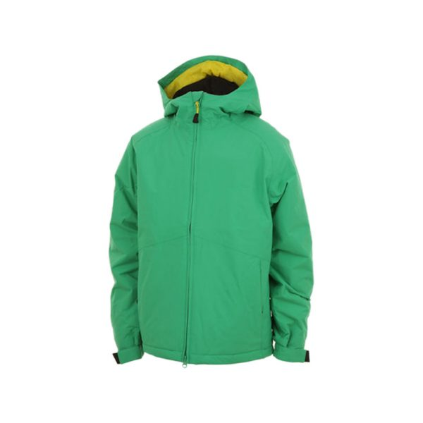 Kids green ski jackets-jjsoftwear
