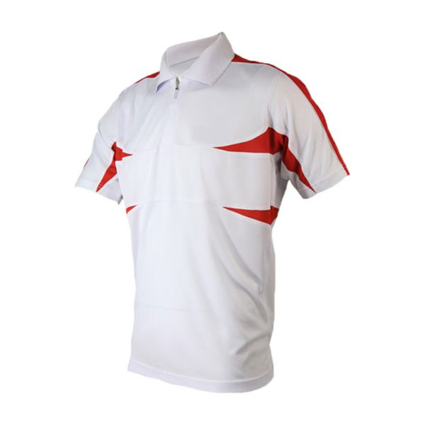 White And Red Mens Sports Wear-JJsoftwear