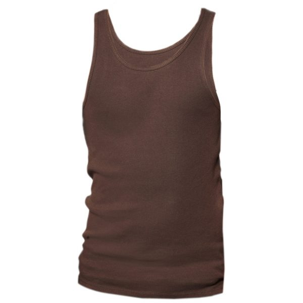 Brown Mens Tank tops-JJsoftwear
