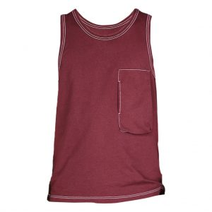 Maroon Mens Tank tops-JJsoftwear