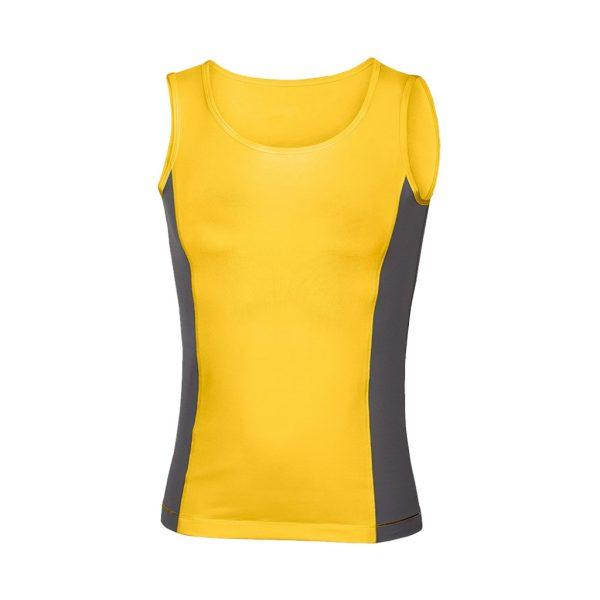 womens Yellow vest tank tops-JJsoftwear