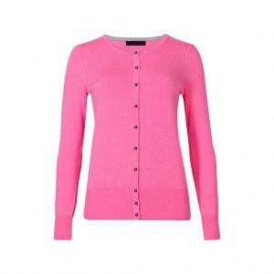 Hot Pink Womens Cardigans-JJsoftwear