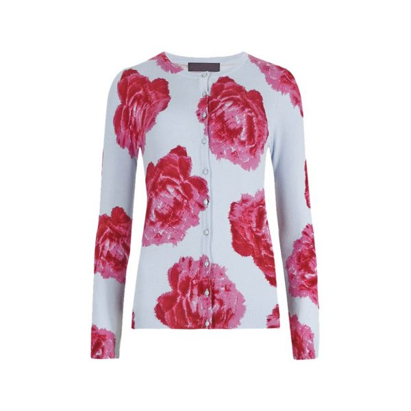 White And Rose Womens Cardigans-JJsoftwear