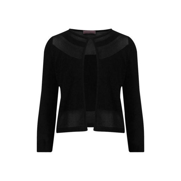 Black Womens Cardigans-JJsoftwear