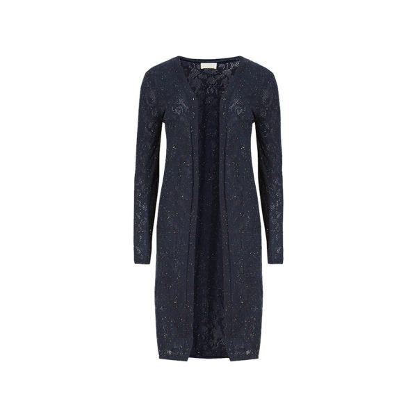 Dark Blue Womens Cardigans-JJsoftwear