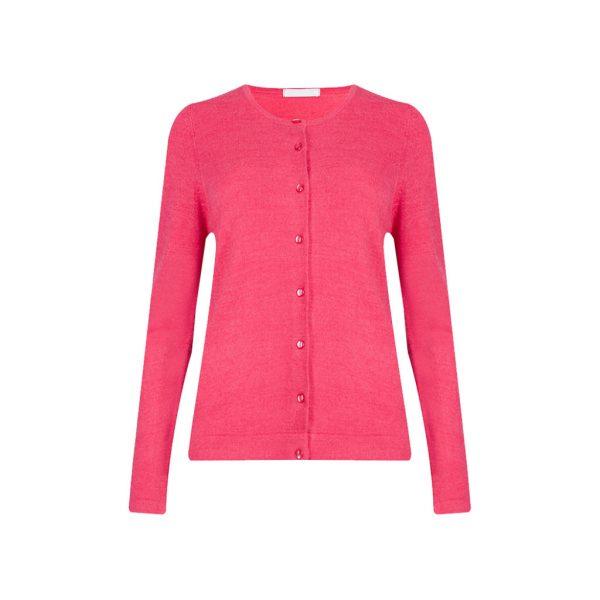 Pink Womens Cardigans-JJsoftwear