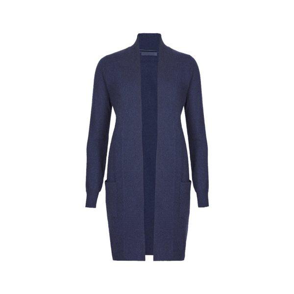 Blue Womens Cardigans-JJsoftwear