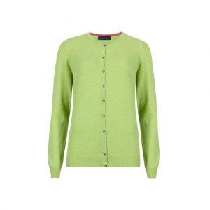Green Womens Cardigans-JJsoftwear