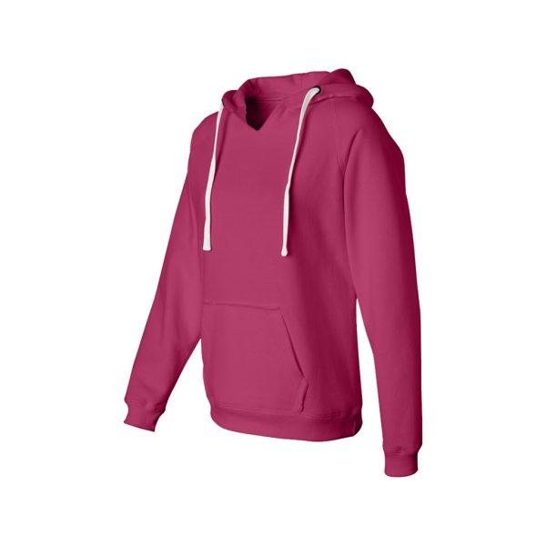 Maroon Womens Hoodies - Sweat-JJsoftwear