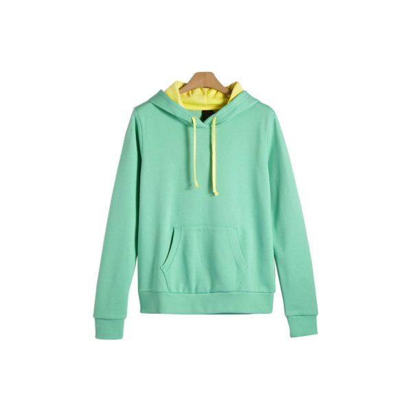 Green Womens Hoodies - Sweat-JJsoftwear