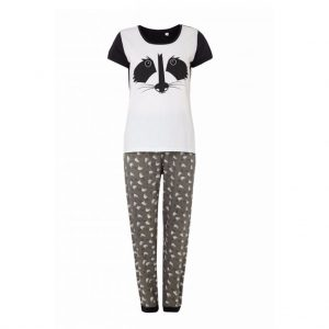 White and Ash Womens Pyjama-JJsoftwear
