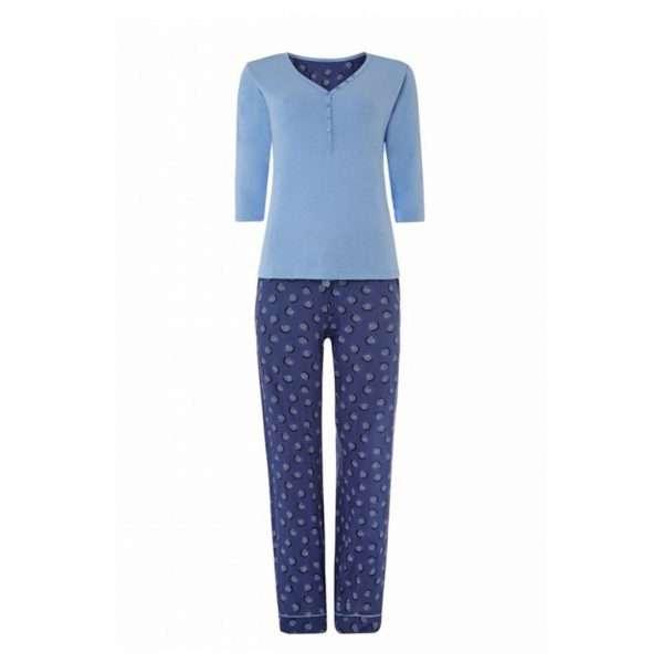Blue Womens Pyjama-JJsoftwear