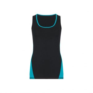 Blue And Black Womens Sports Wear-JJsoftwear